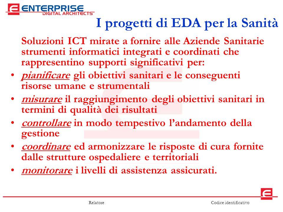 I progetti di EDA per la Sanità