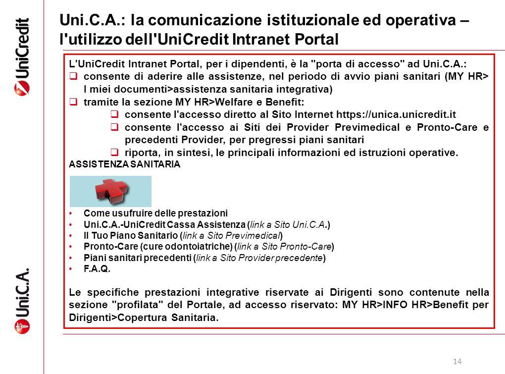 Uni.C.A.: la comunicazione istituzionale ed operativa – l utilizzo dell UniCredit Intranet Portal