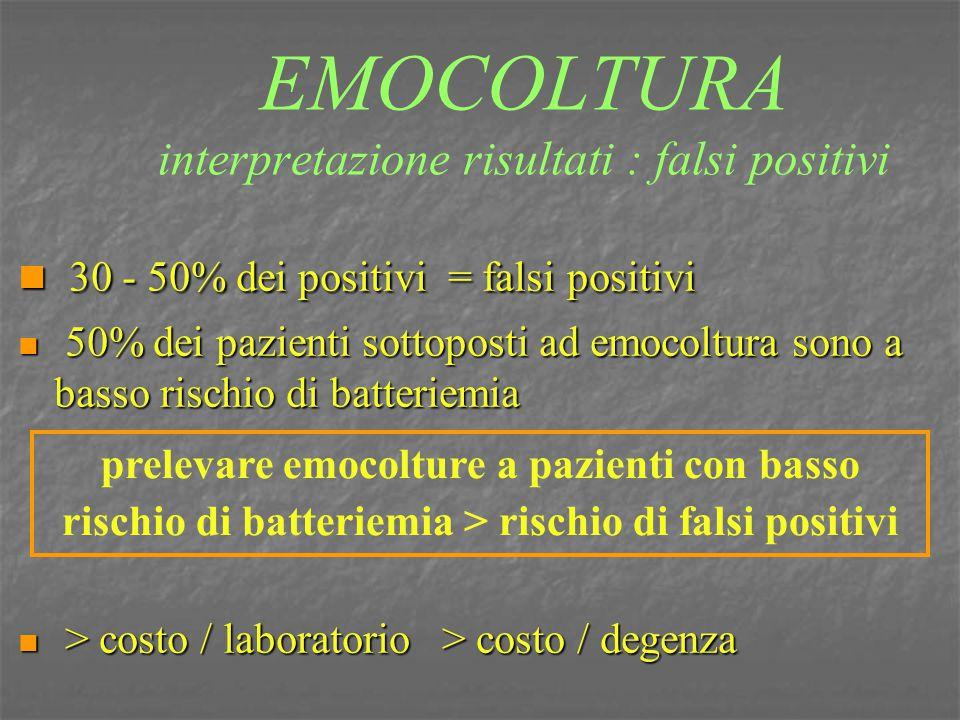 EMOCOLTURA interpretazione risultati : falsi positivi