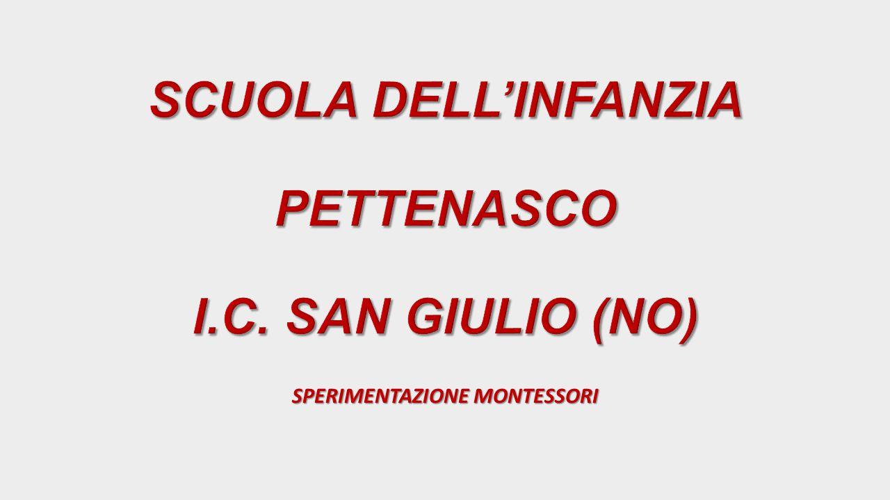 SCUOLA DELL'INFANZIA PETTENASCO I.C. SAN GIULIO (NO)