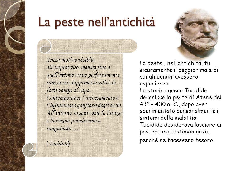 La peste nell'antichità
