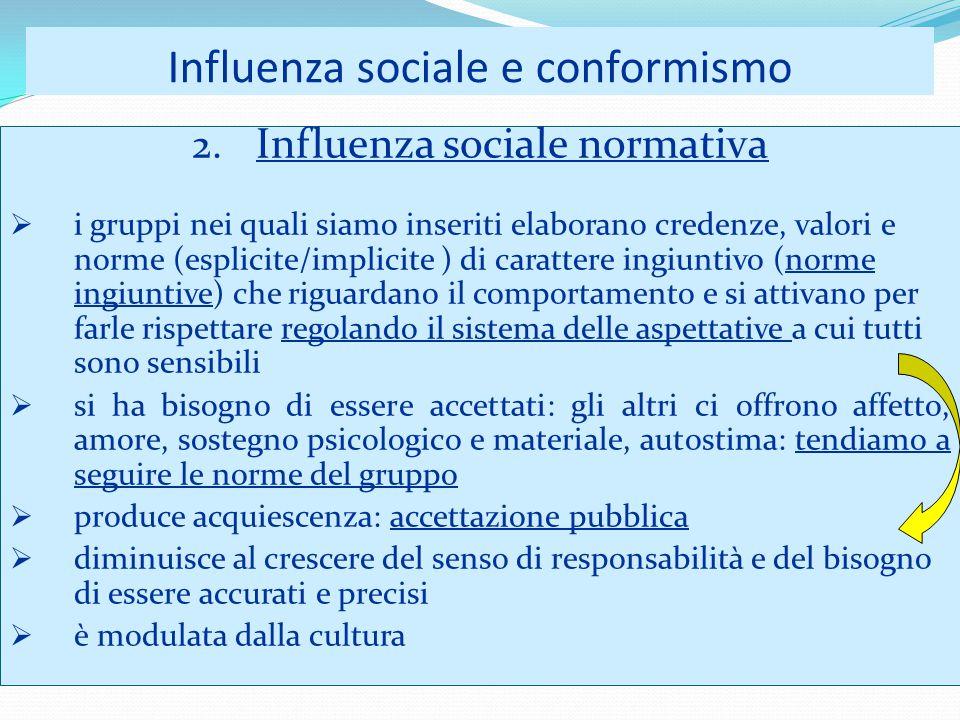 Influenza sociale e conformismo