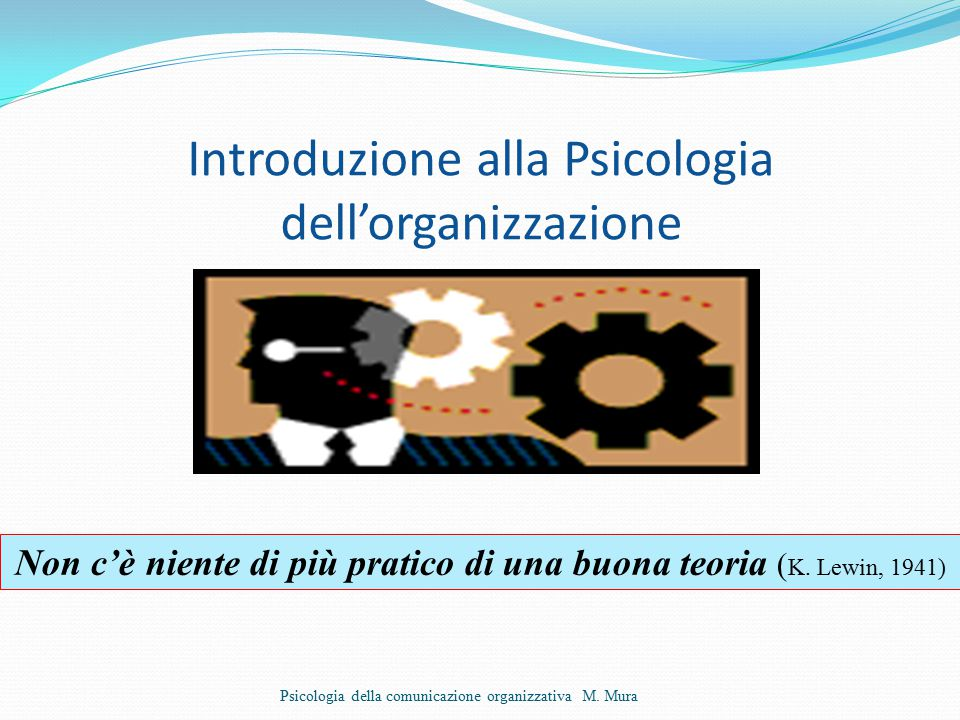 Introduzione alla Psicologia dell'organizzazione