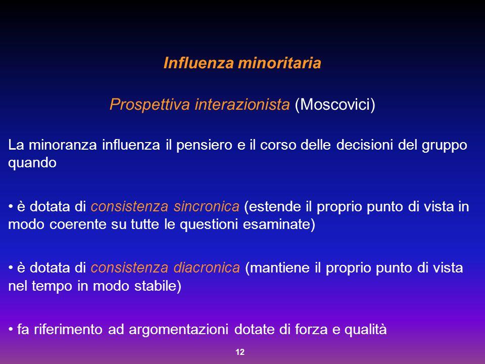 Influenza minoritaria
