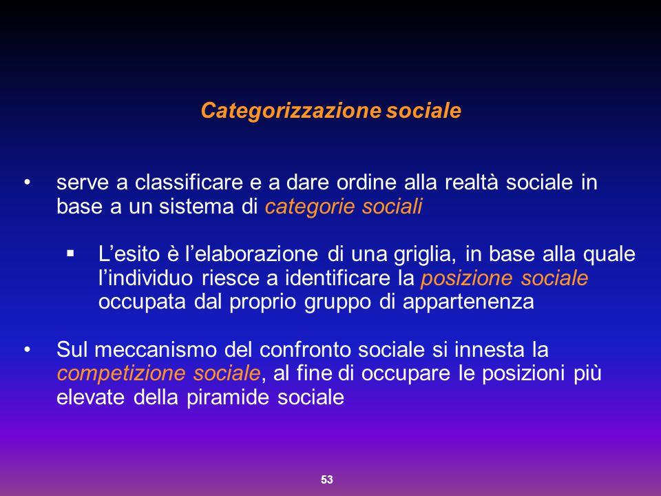 Categorizzazione sociale