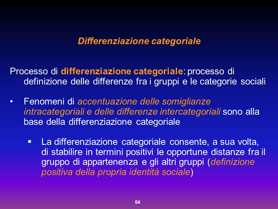 Differenziazione categoriale