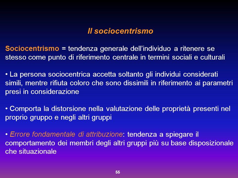 Il sociocentrismo