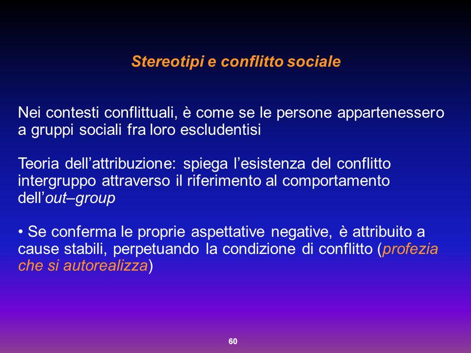 Stereotipi e conflitto sociale