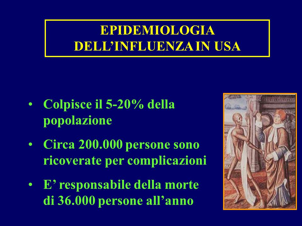 EPIDEMIOLOGIA DELL'INFLUENZA IN USA