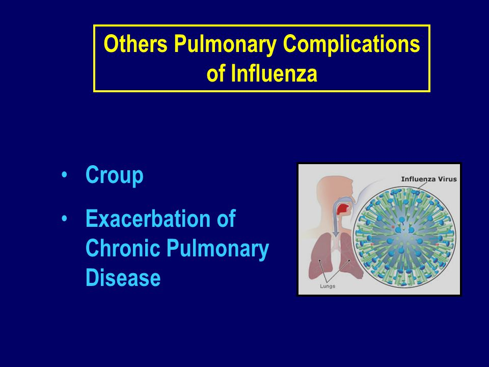 Others Pulmonary Complications of Influenza