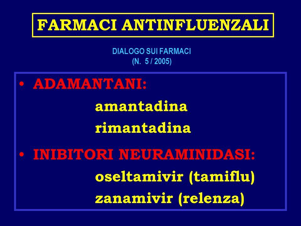 FARMACI ANTINFLUENZALI DIALOGO SUI FARMACI (N. 5 / 2005)