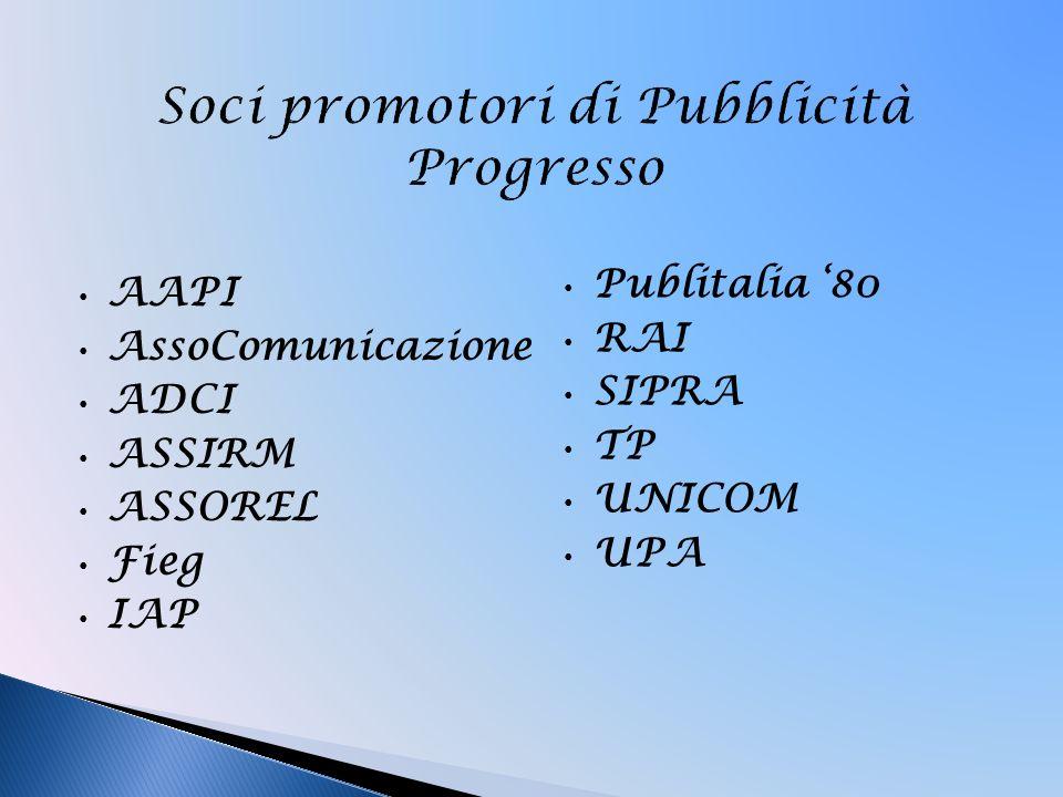 Soci promotori di Pubblicità Progresso