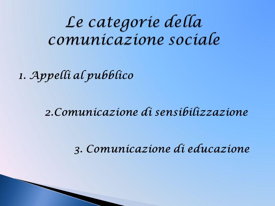 Le categorie della comunicazione sociale