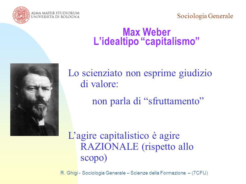 Max Weber L'idealtipo capitalismo