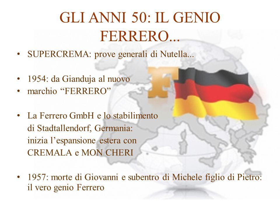 GLI ANNI 50: IL GENIO FERRERO...