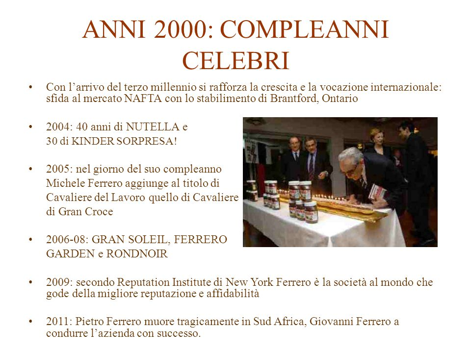 ANNI 2000: COMPLEANNI CELEBRI