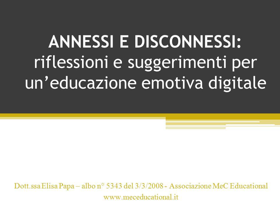 ANNESSI E DISCONNESSI: riflessioni e suggerimenti per un'educazione emotiva digitale