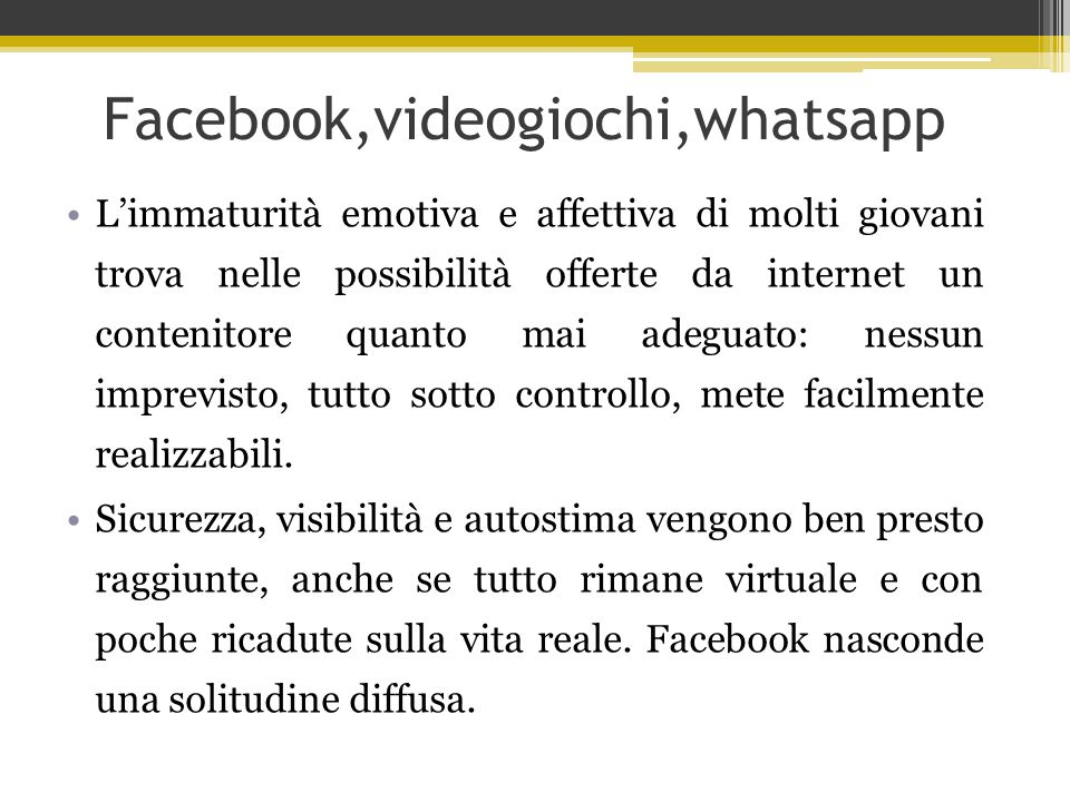 Facebook,videogiochi,whatsapp