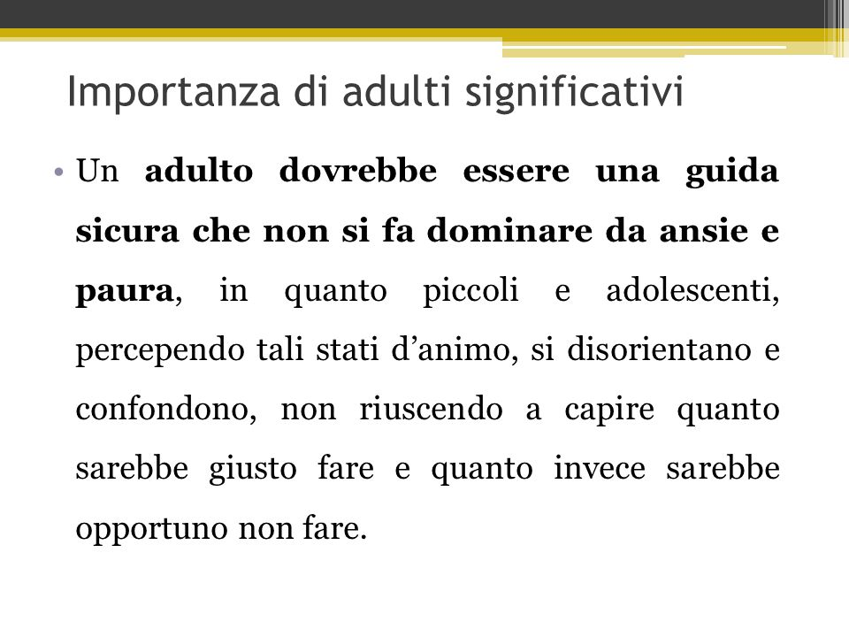 Importanza di adulti significativi
