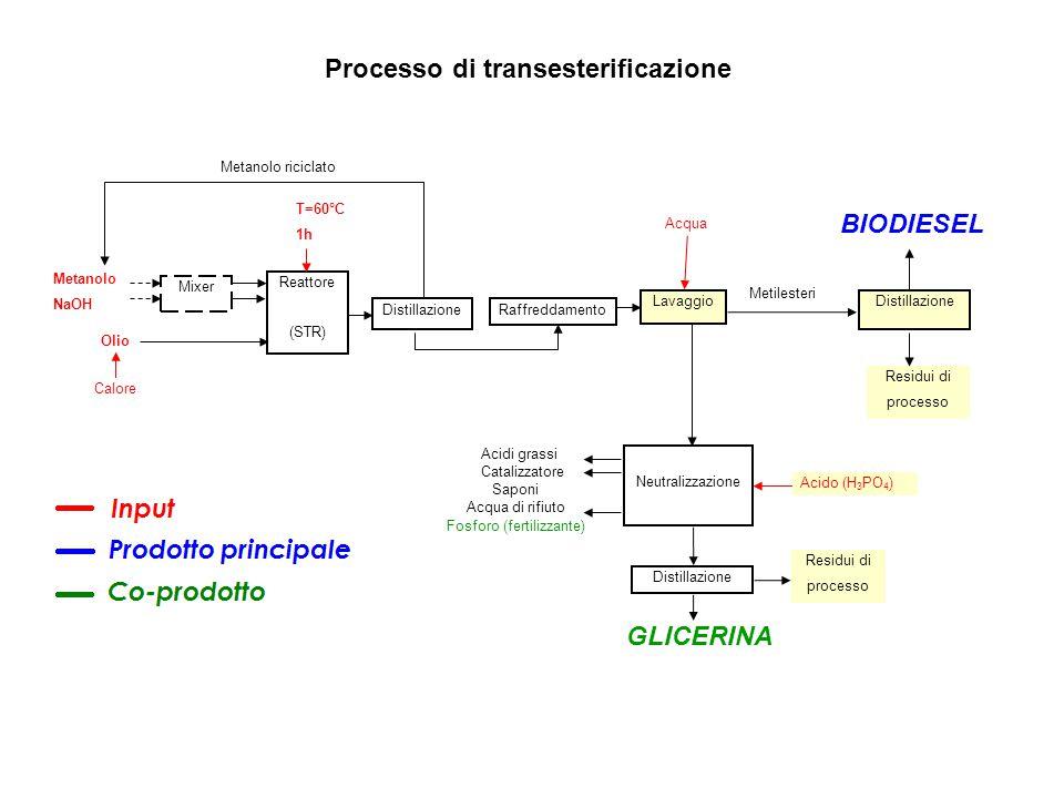 Processo di transesterificazione