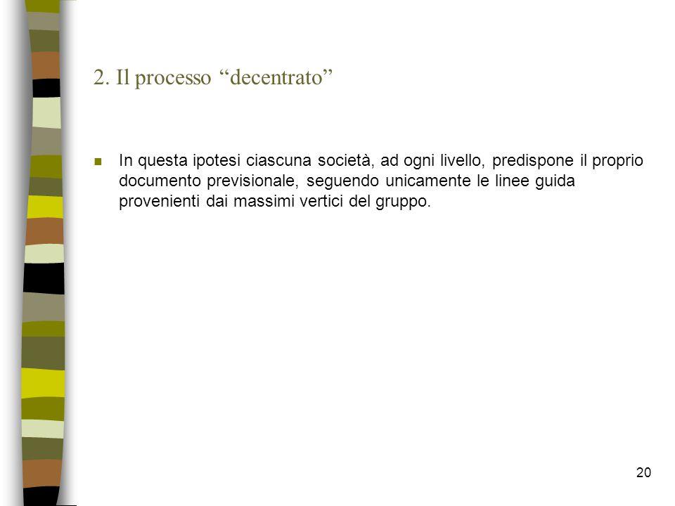 2. Il processo decentrato
