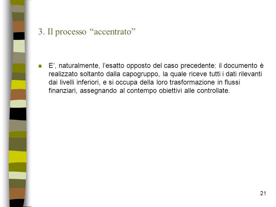 3. Il processo accentrato