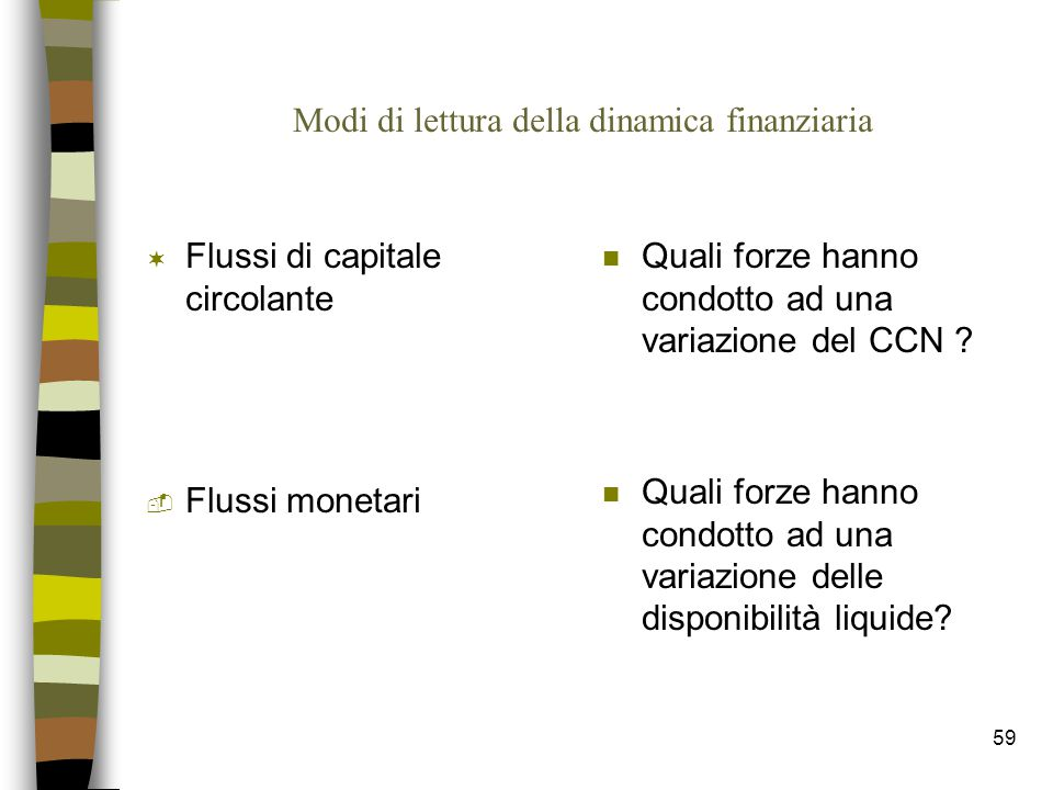 Modi di lettura della dinamica finanziaria