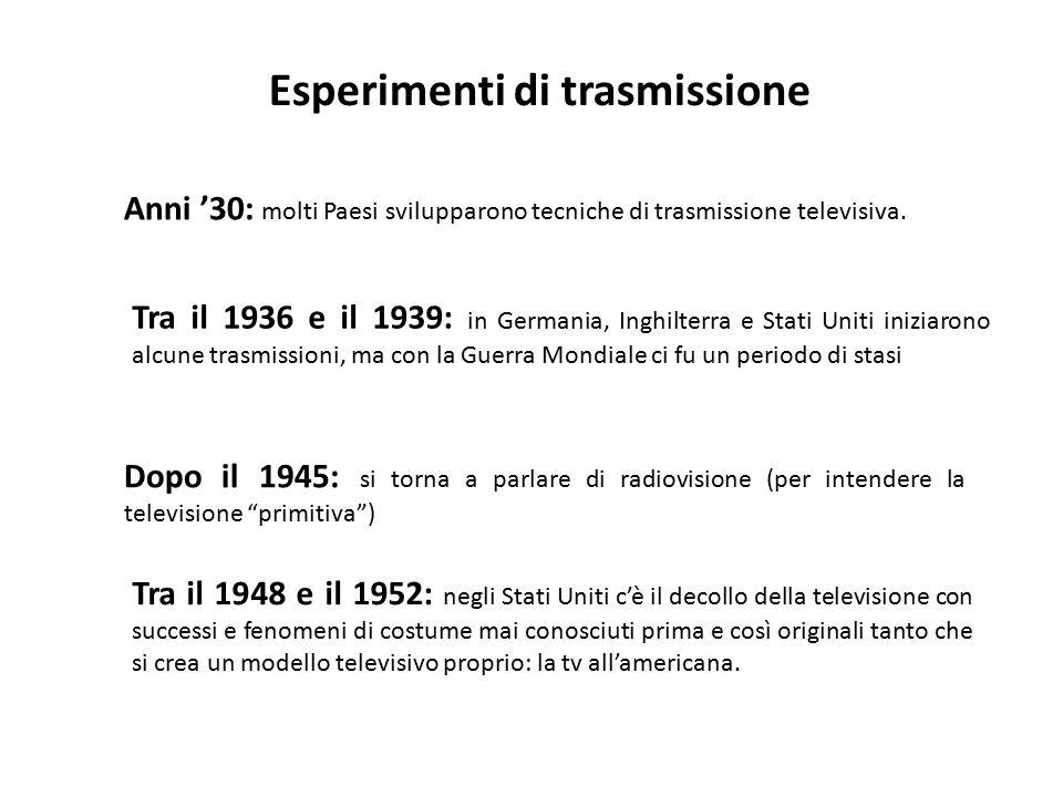 Esperimenti di trasmissione