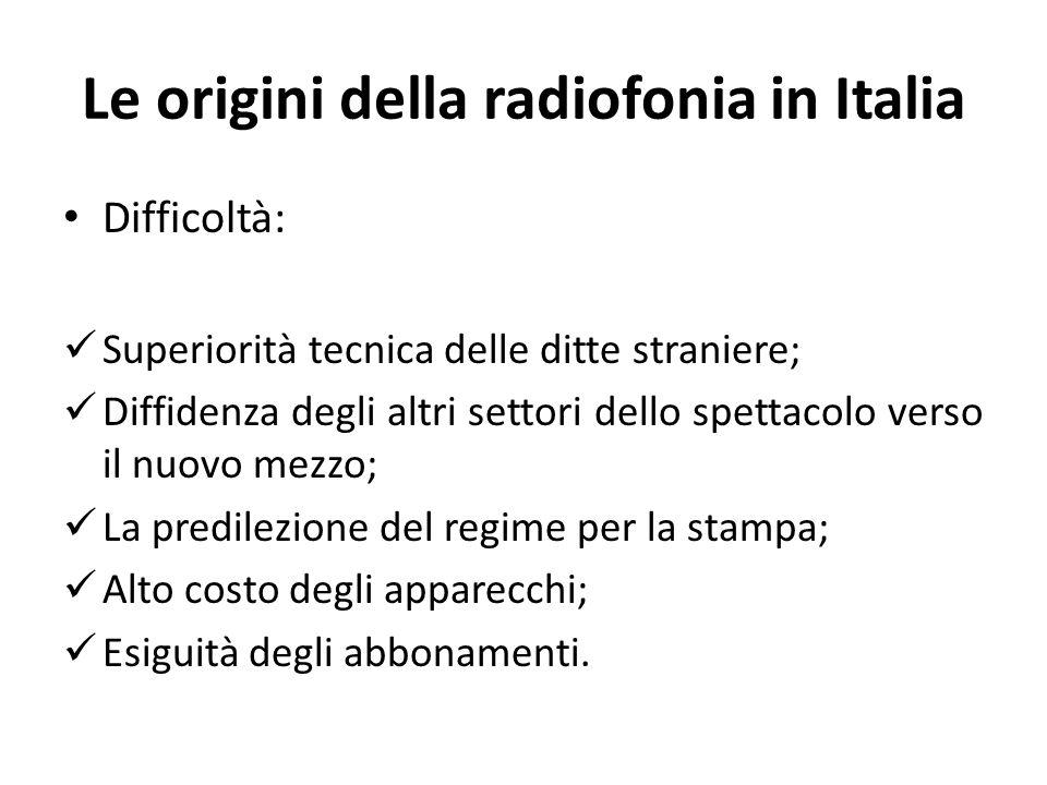 Le origini della radiofonia in Italia