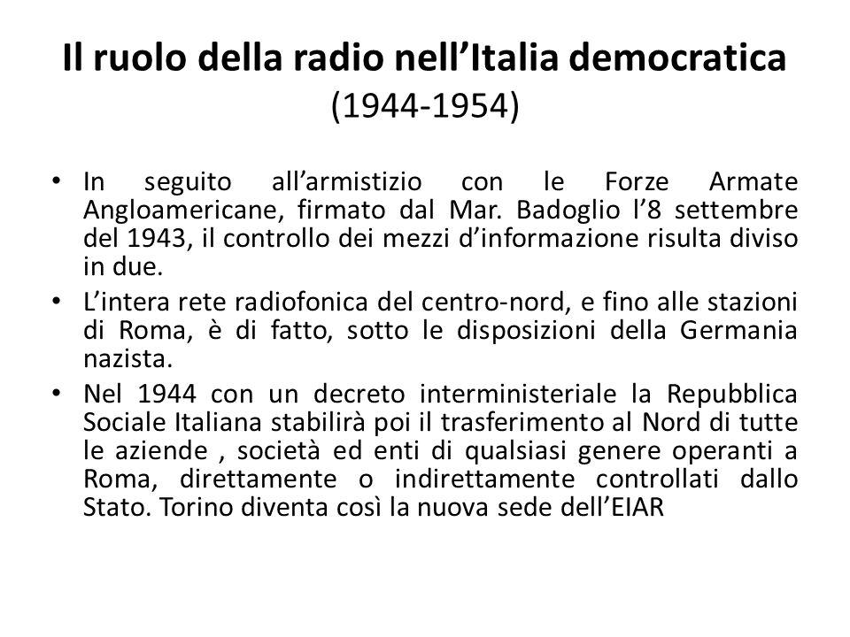 Il ruolo della radio nell'Italia democratica (1944-1954)