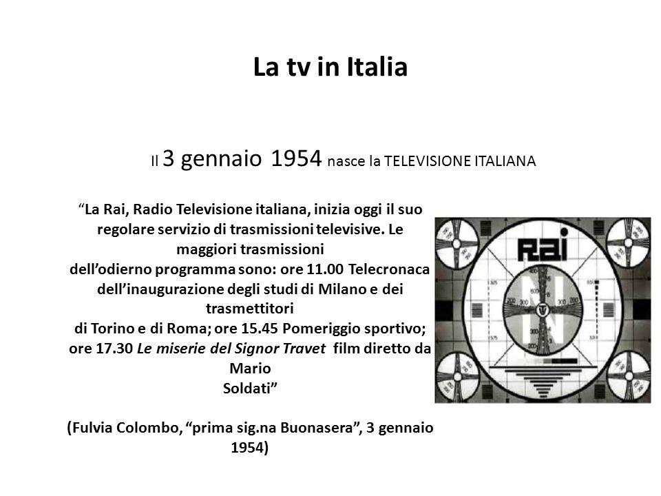 (Fulvia Colombo, prima sig.na Buonasera , 3 gennaio 1954)