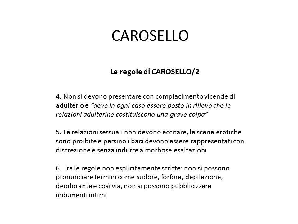 Le regole di CAROSELLO/2