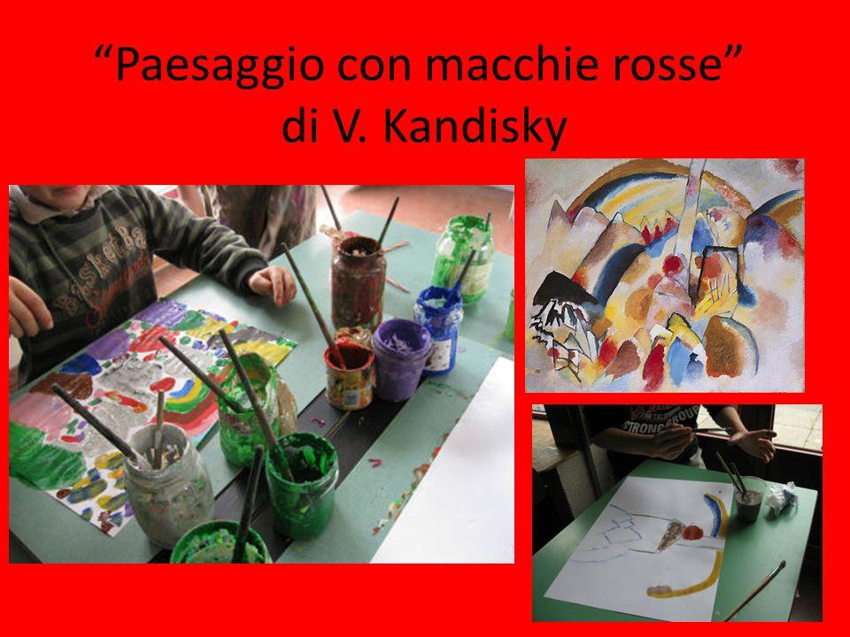 Paesaggio con macchie rosse di V. Kandisky