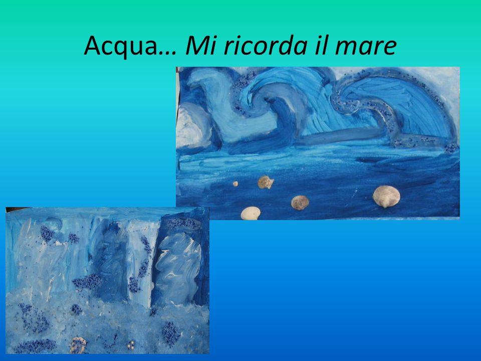 Acqua… Mi ricorda il mare