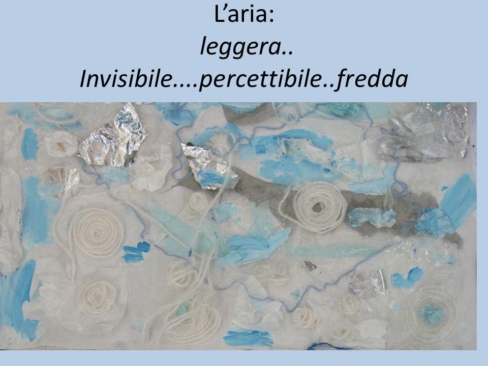 L'aria: leggera.. Invisibile....percettibile..fredda