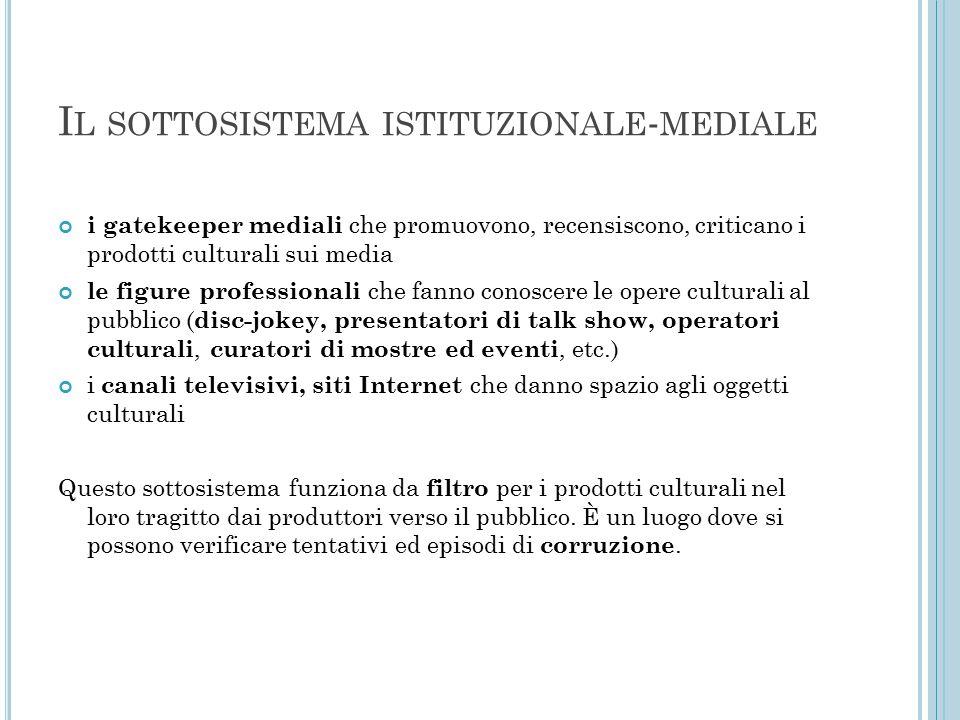 Il sottosistema istituzionale-mediale