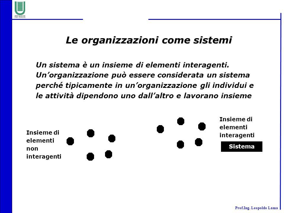 Le organizzazioni come sistemi