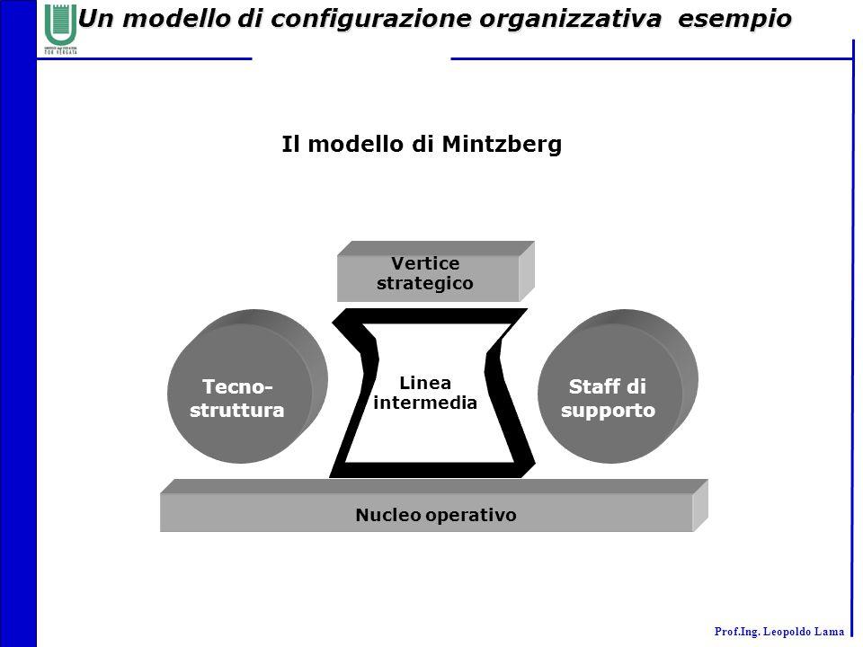 Un modello di configurazione organizzativa esempio
