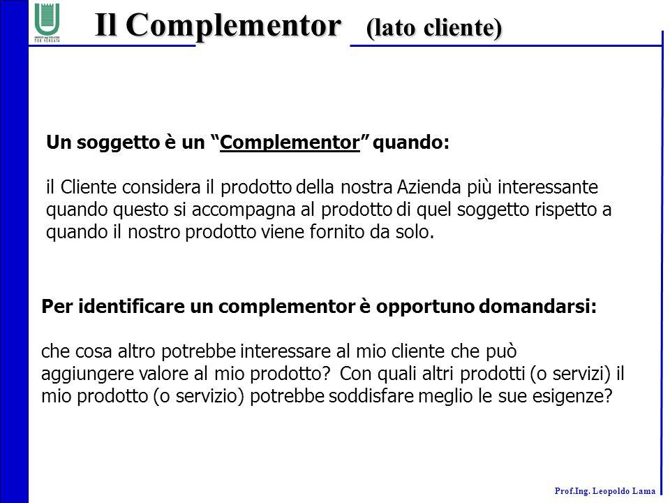 Il Complementor (lato cliente)