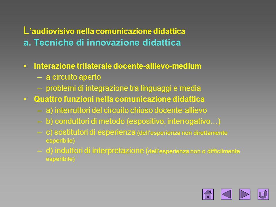 L'audiovisivo nella comunicazione didattica a