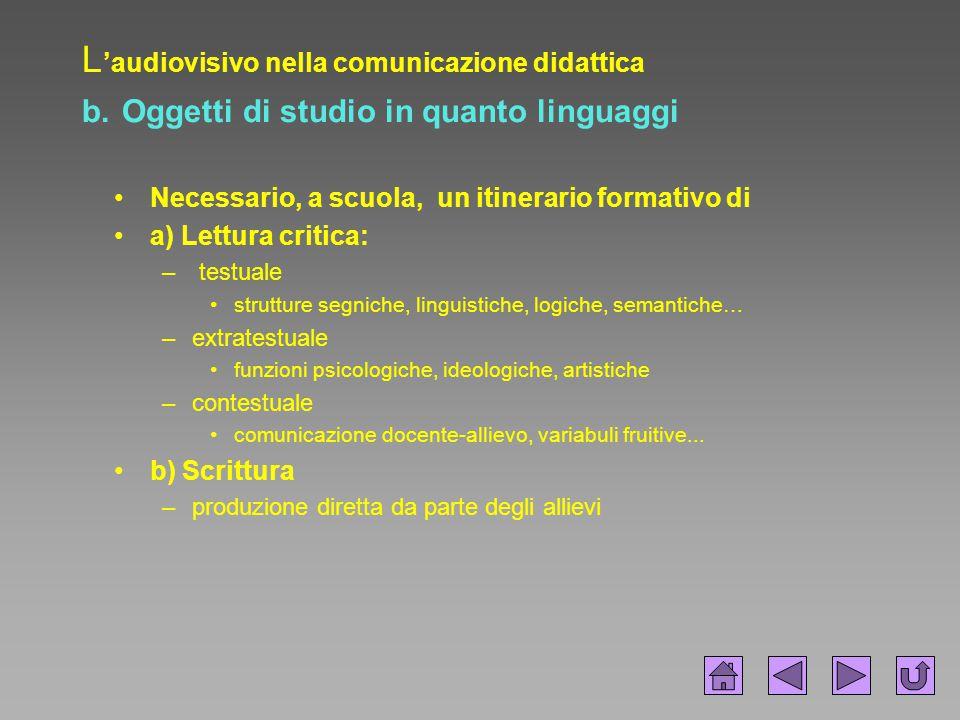 L'audiovisivo nella comunicazione didattica b