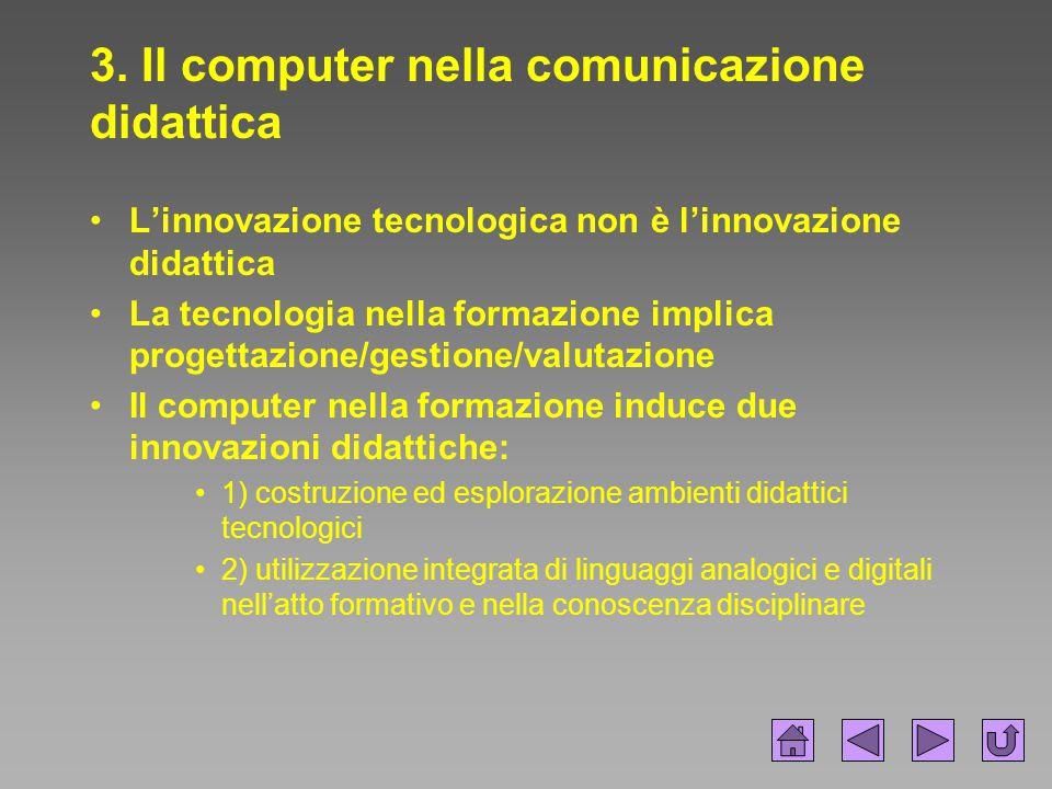 3. Il computer nella comunicazione didattica