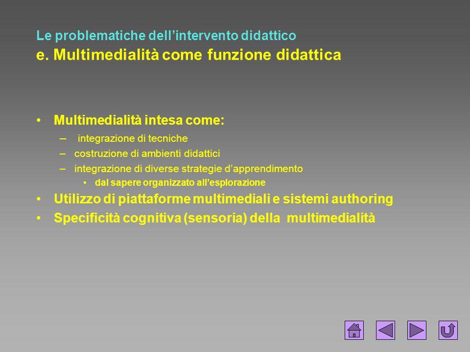 Multimedialità intesa come: