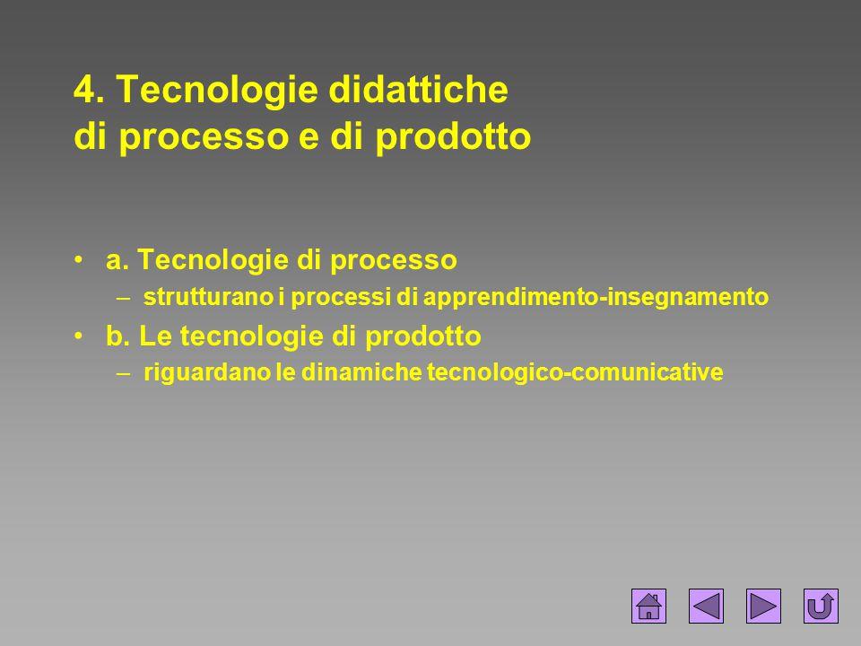 4. Tecnologie didattiche di processo e di prodotto