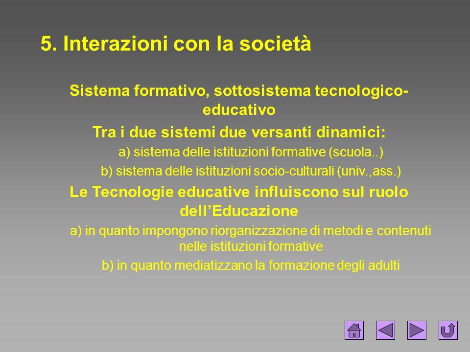 5. Interazioni con la società