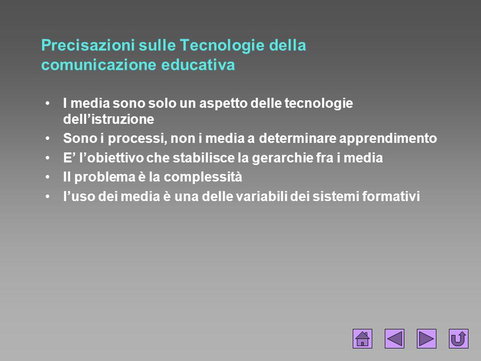 Precisazioni sulle Tecnologie della comunicazione educativa