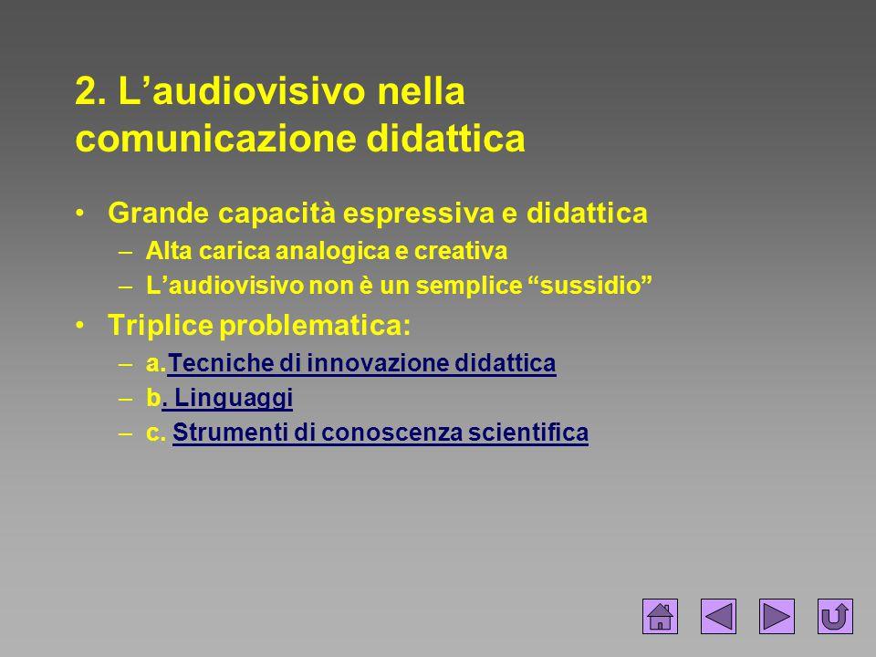 2. L'audiovisivo nella comunicazione didattica