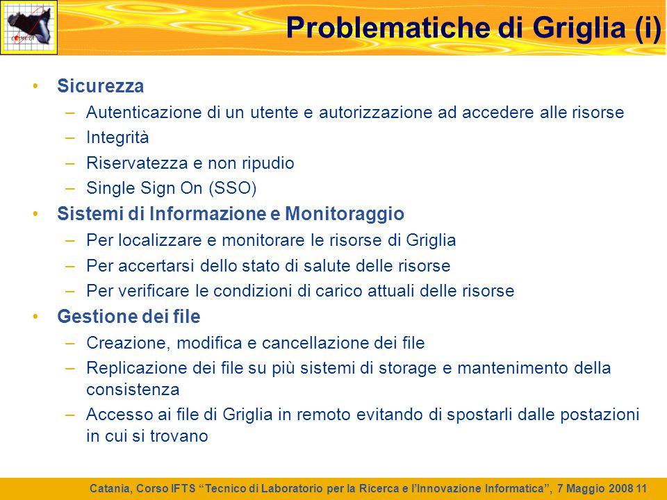 Problematiche di Griglia (i)
