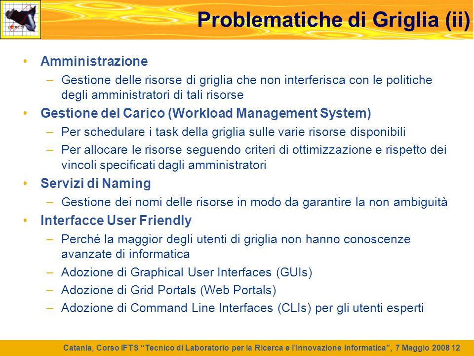 Problematiche di Griglia (ii)