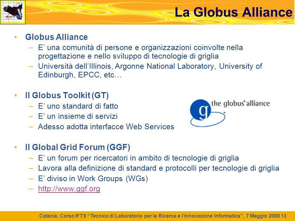 La Globus Alliance Globus Alliance Il Globus Toolkit (GT)